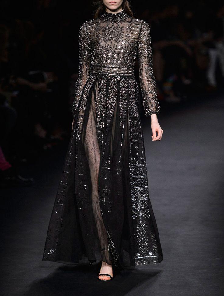 Sheer embellished gowns - Rebel66 Blog