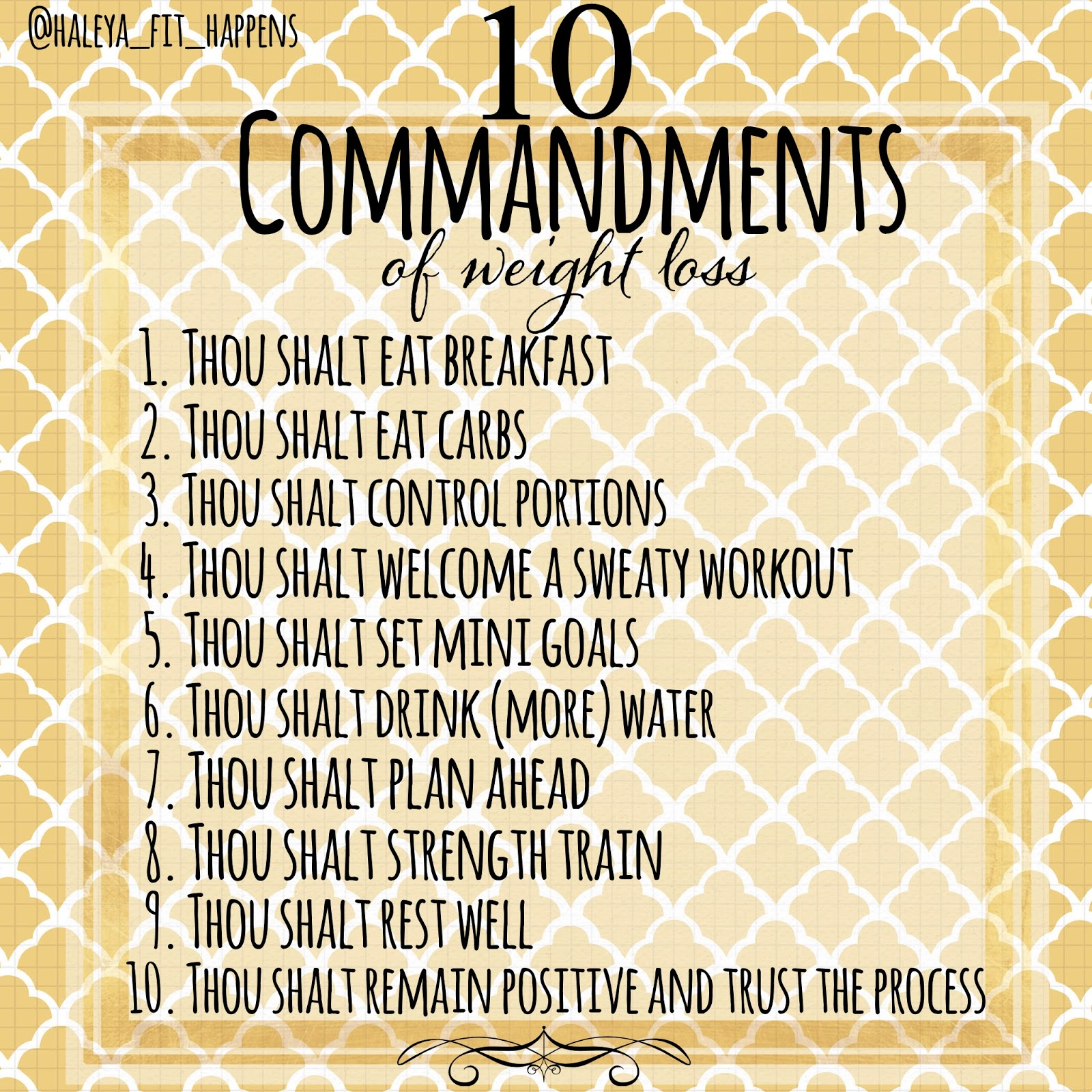 The 10 Commandments Of Weight Loss Success