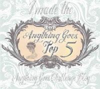 Ik sta in de top 5 bij Anything Goes Challenge blog