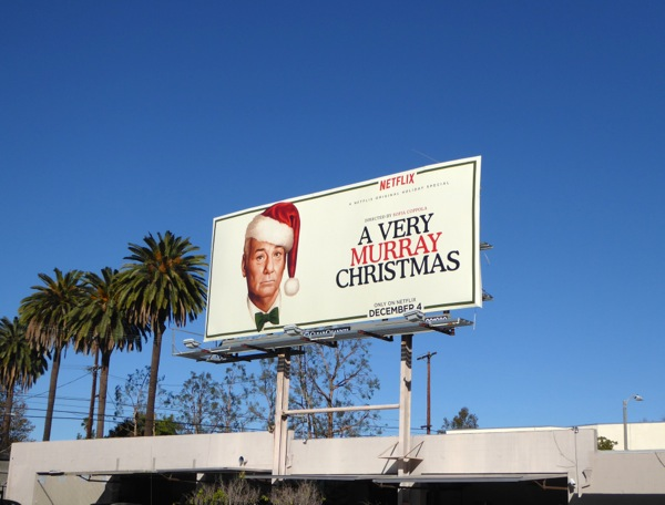 A Very Murray Christmas netflix billboard