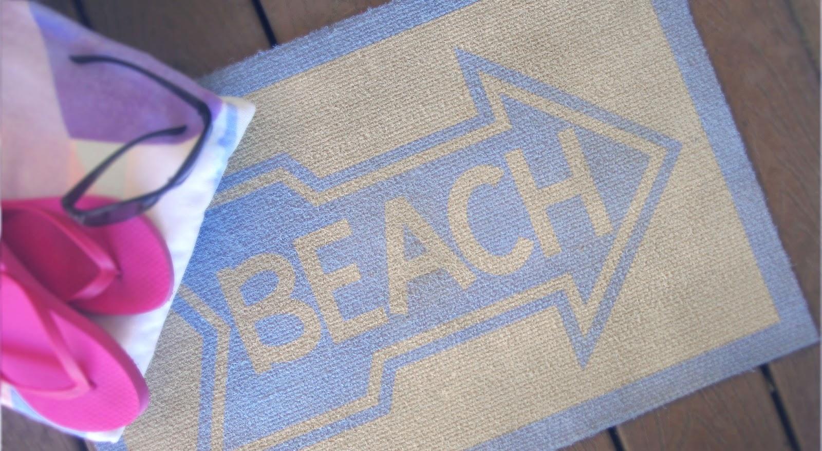 Painted Beach Door Mat