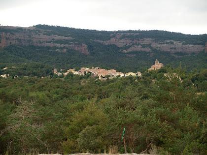 Vilanova de Sau des de La Pineda