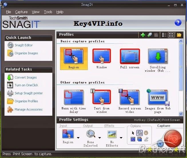 TechSmith Snagit v12.0.0 Build 1001 Full Key,Phần mềm chụp ảnh màn hình,quay phim,tạo bài giảng điện tử dạng Video