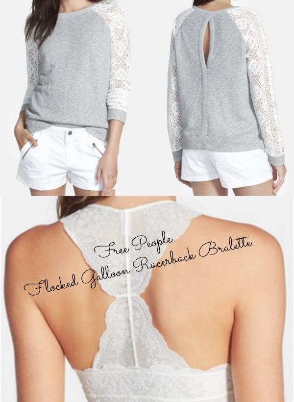 Summer Fashion - Hinge Lace Sleeve Sweatshirt