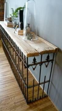 Aparador reutilize grade e madeira