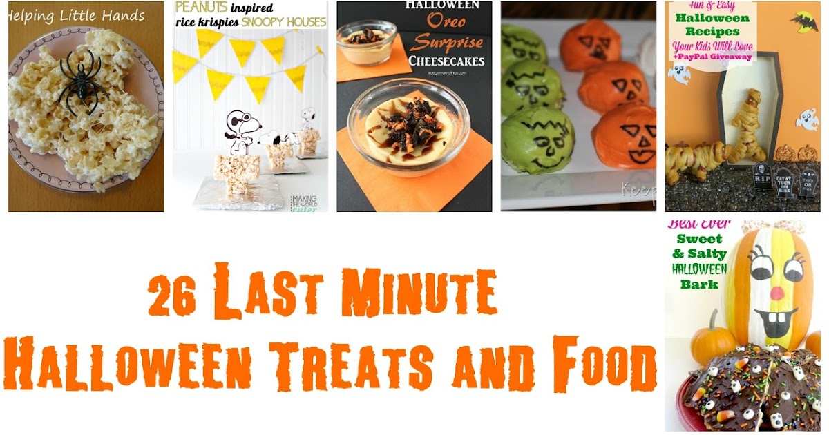 Keeping it simple last minute halloween food ideas mmm for Last minute party food