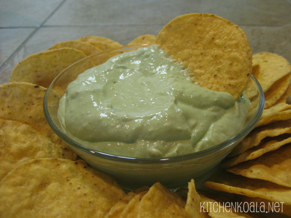 Creamy Guacamole Dip Creamy guacamole dip