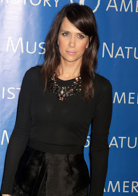 Kristen Wiig Long Straight Cut with Bangs Hairstyle