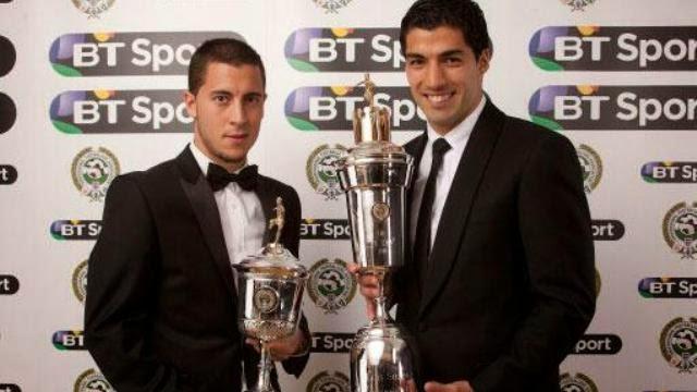 رسميا: سواريز افضل لاعب في الدوري الانجليزي و هازارد افضل لاعب شاب