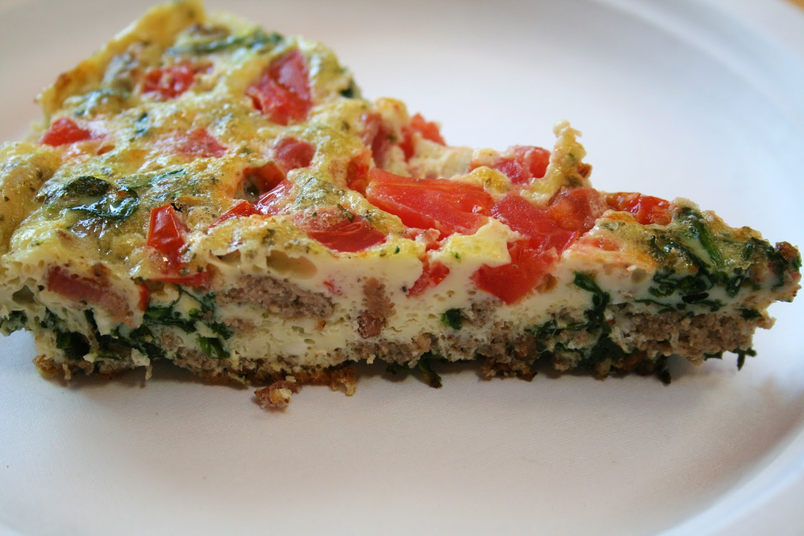 Budget Paleo...Made Easy: Spinach and Sausage Frittata