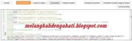 Cara edit template HTML di tampilan baru Blogger