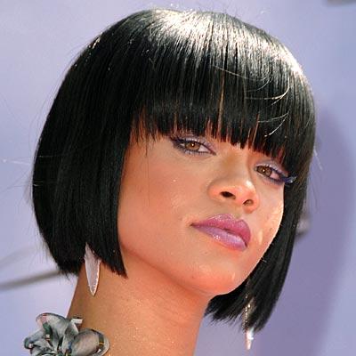 Black short bob hairstyles 2012