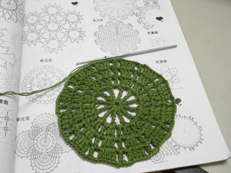 Firefly crochet crochet potholders round triangle chart from crochet potholders round triangle chart from crochet book ccuart Choice Image