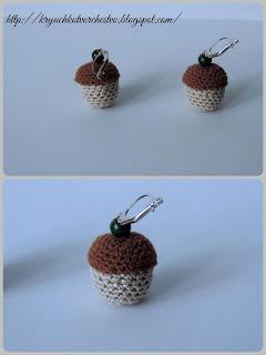 вязание крючком, вязаные украшения, серьги крючком,