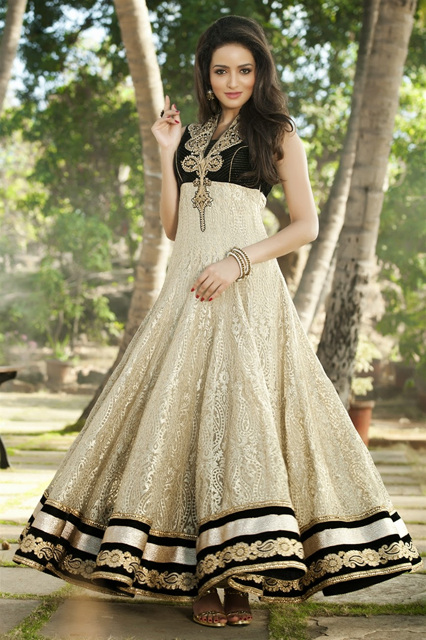 new designs of glamorous long anarkali suits collection