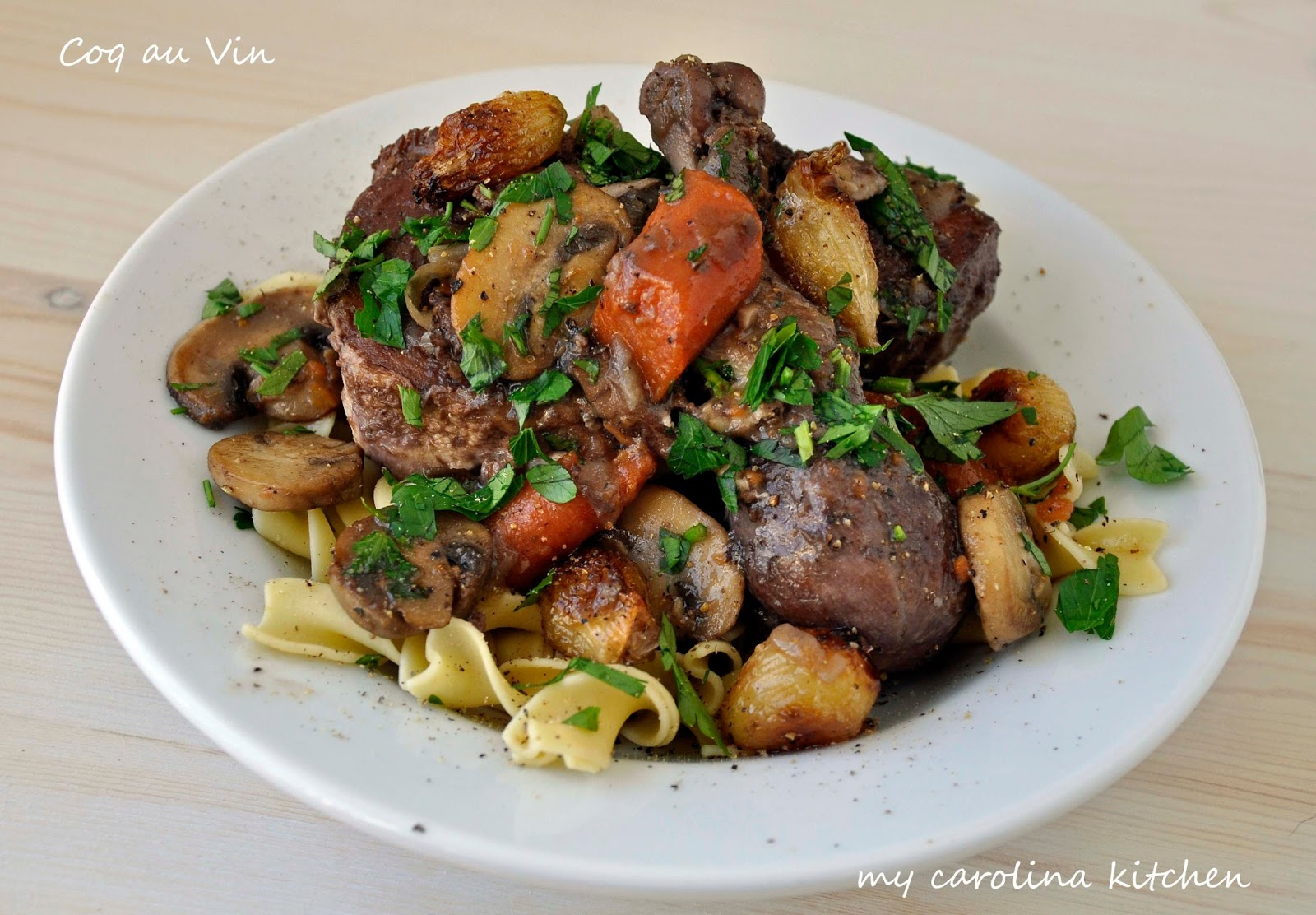 my carolina kitchen ina s coq au vin it s just beef bourguignon with chicken. Black Bedroom Furniture Sets. Home Design Ideas
