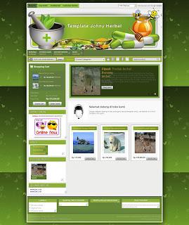 home template toko herbal mantab