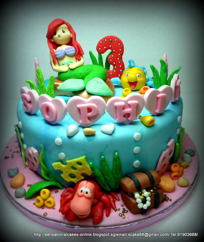 The Sensational Cakes MERMAID CAKE SINGAPORE ARIEL DESIGN CAKE