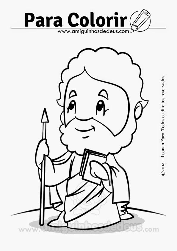 São Tomé apóstolo desenho para colorir