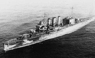 WW2 Battle of Atlantic Hunt for Bismarck - photo HMS Suffolk