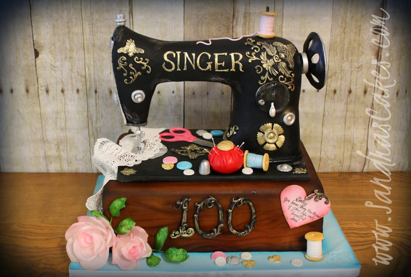 Cake Design For Singer : Sally s Singer Sewing Machine Cake
