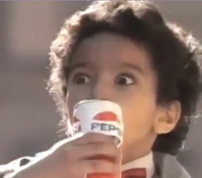 Propaganda da Pepsi com Michael Jackson nos anos 80 - Pepsi Generation.