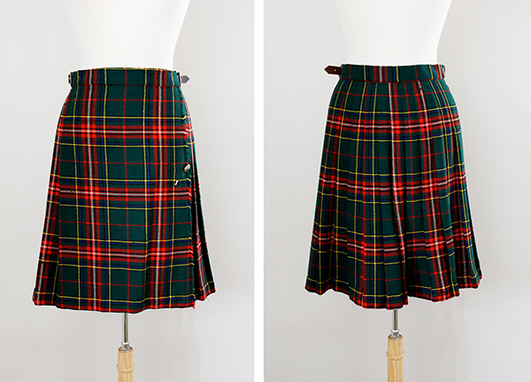 new to the vintage shop 1960s scottish tartan skirt
