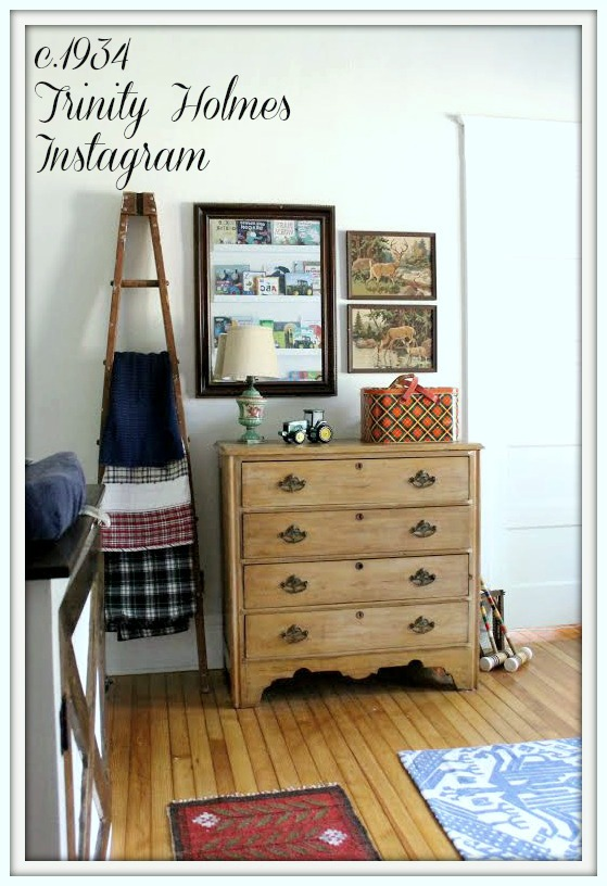 Rustic Farmhouse Nursery-From My Front Porch To Yours-How I Found My Style Sundays- c.1934 Trinity Holmes Instagram