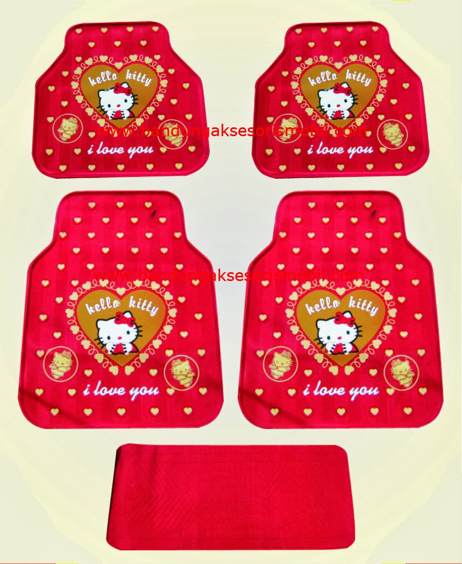 Karpet Hello Kitty 1 Love Merah