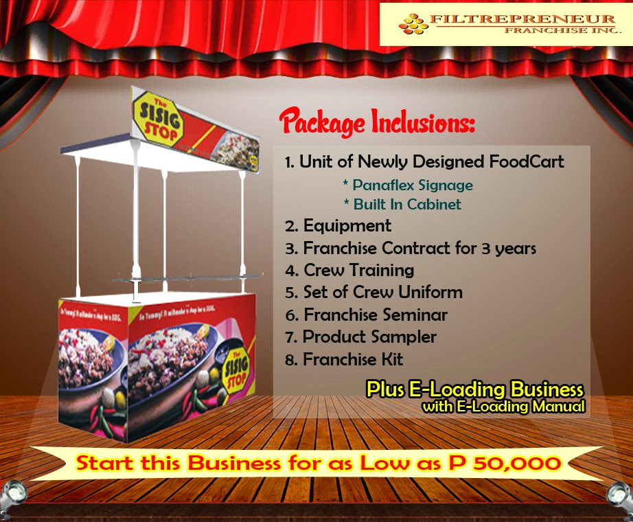 Foodcart For Franchise - A Sisig Inspired Food Concept Offered in the Philippines.