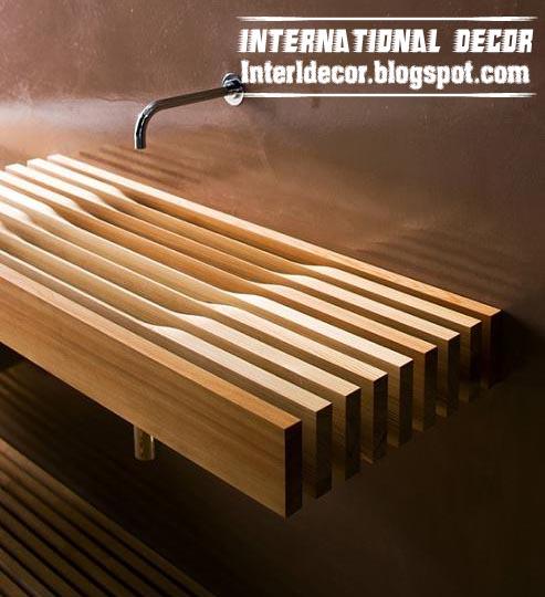 Wooden Bathroom Sink : creative wooden bathroom sink, wooden bathroom design ideas