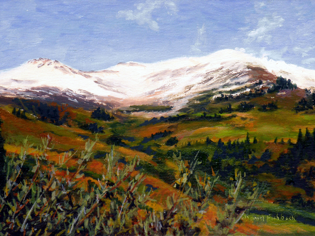 "Landscape Painting - Crested Butte Colorado - 6"" x 8"" Oil by Daniel ..."
