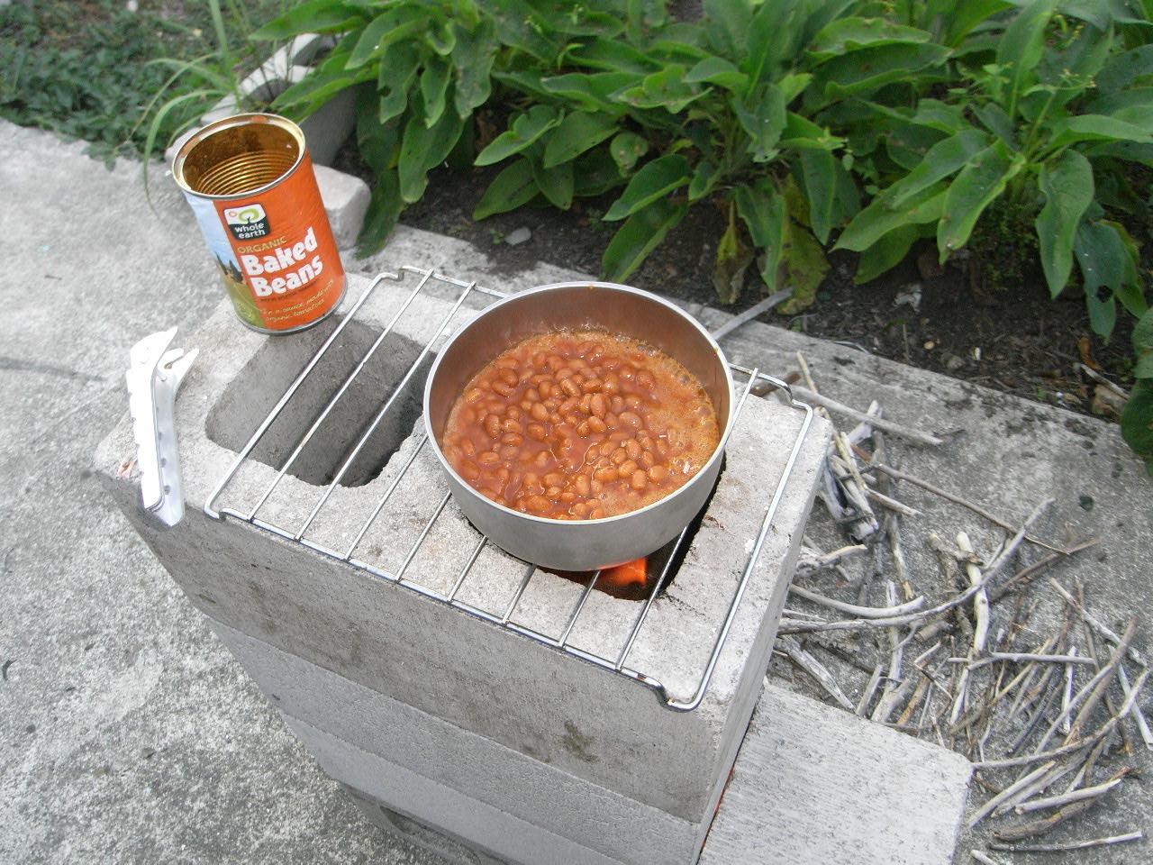 The pragmatic stoic design five block rocket stove for Diy cooking stove