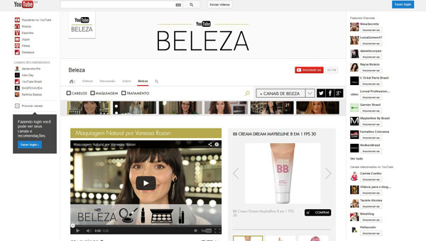 L'Oréal assume canal de beleza do YouTube