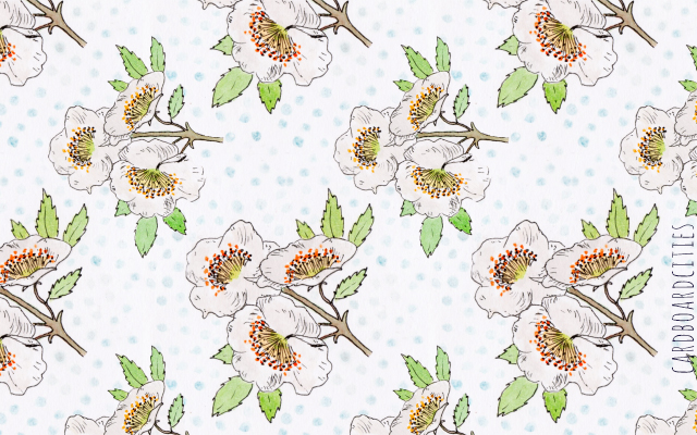 eucryphia floral pattern by laura redburn