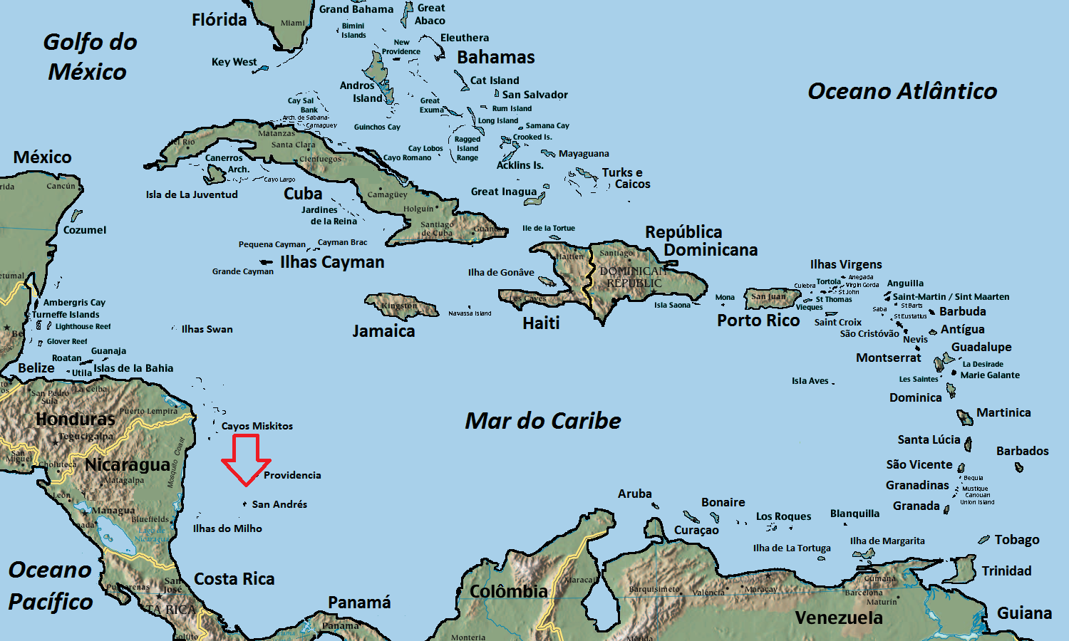 how to get to san andres colombia