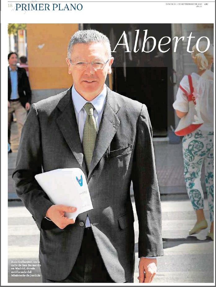 Entrevista a Gallardón en ABC, y ni mu del aborto. ¿Y las promesas a ...