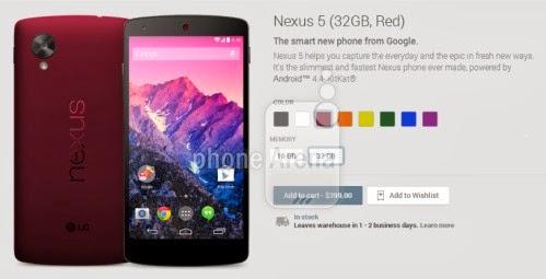 Pare che stiano per arrivare altre 6 varianti di colore per lo smartphone android KitKat di Google oltre le classiche bianca e nero