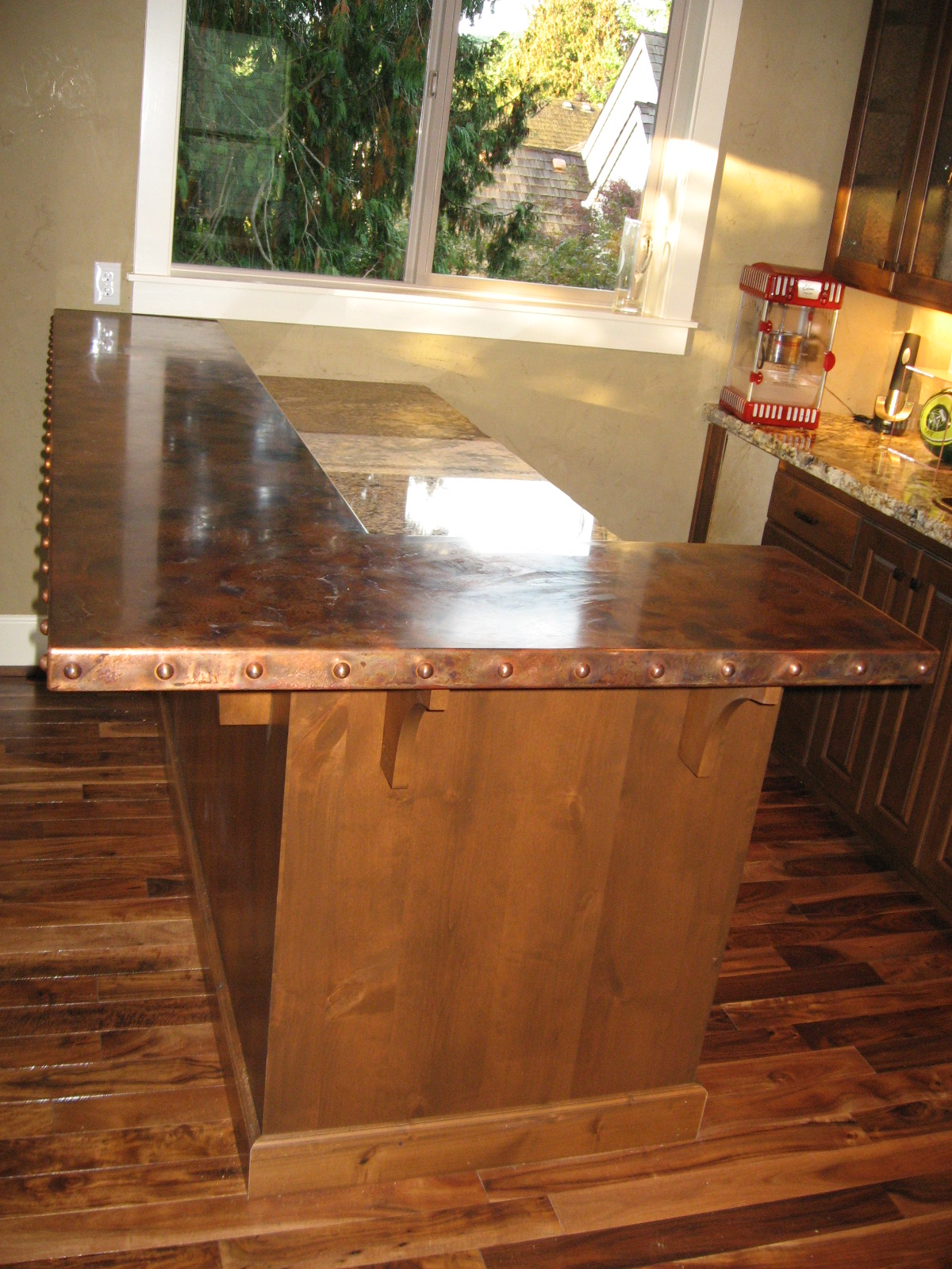 Copper Bar Counter Top