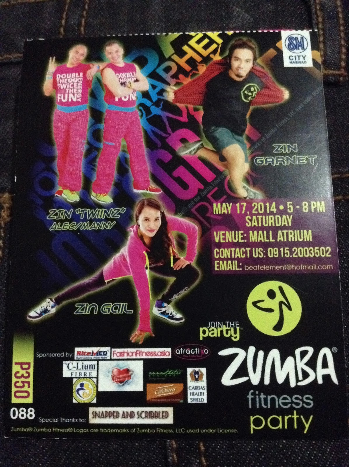 Zumba Fitness Party Ticket Giveaway