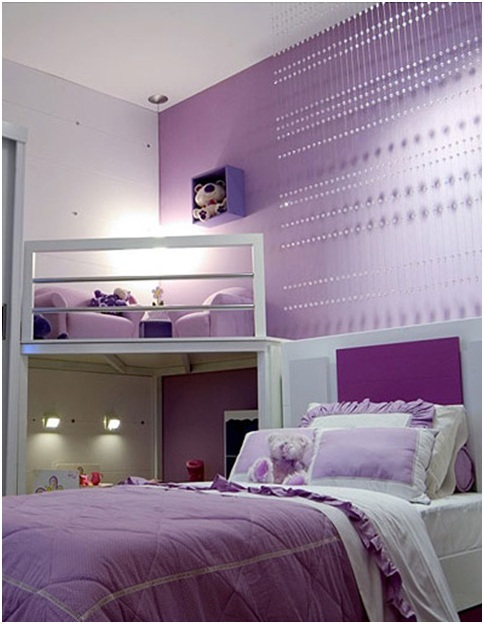 Lilac bedroom for girls bedroom decorating ideas for Violet bedroom designs