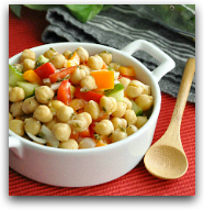 Summery Chickpea & Pepper Salad