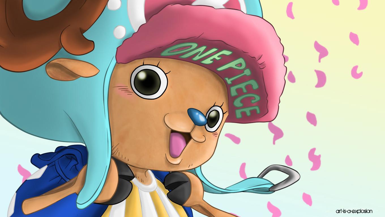 One Piece Wallpaper: Chopper Blue Hat - One Piece Wallpaper