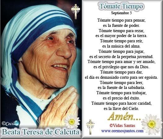 Oracion De La Madre Teresa De Calcuta