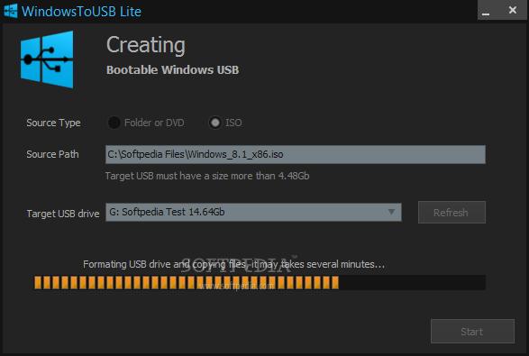 برنامج مجاني لجعل أقراص الفلاش ميموري USB نسخة ويندوز محمولة WindowsToUSB Lite 1.1