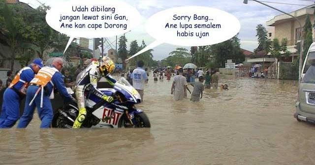 Foto Lucu Rossi Kebanjiran Gaan Wkwk Kumpulan Gambar