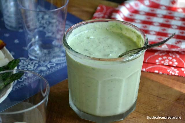 Homemade Green Goddess Dressing for Veggie Dip Cups