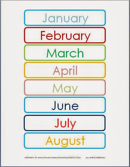 "Search Results for ""Months Of The Year Printables"" – Calendar ..."