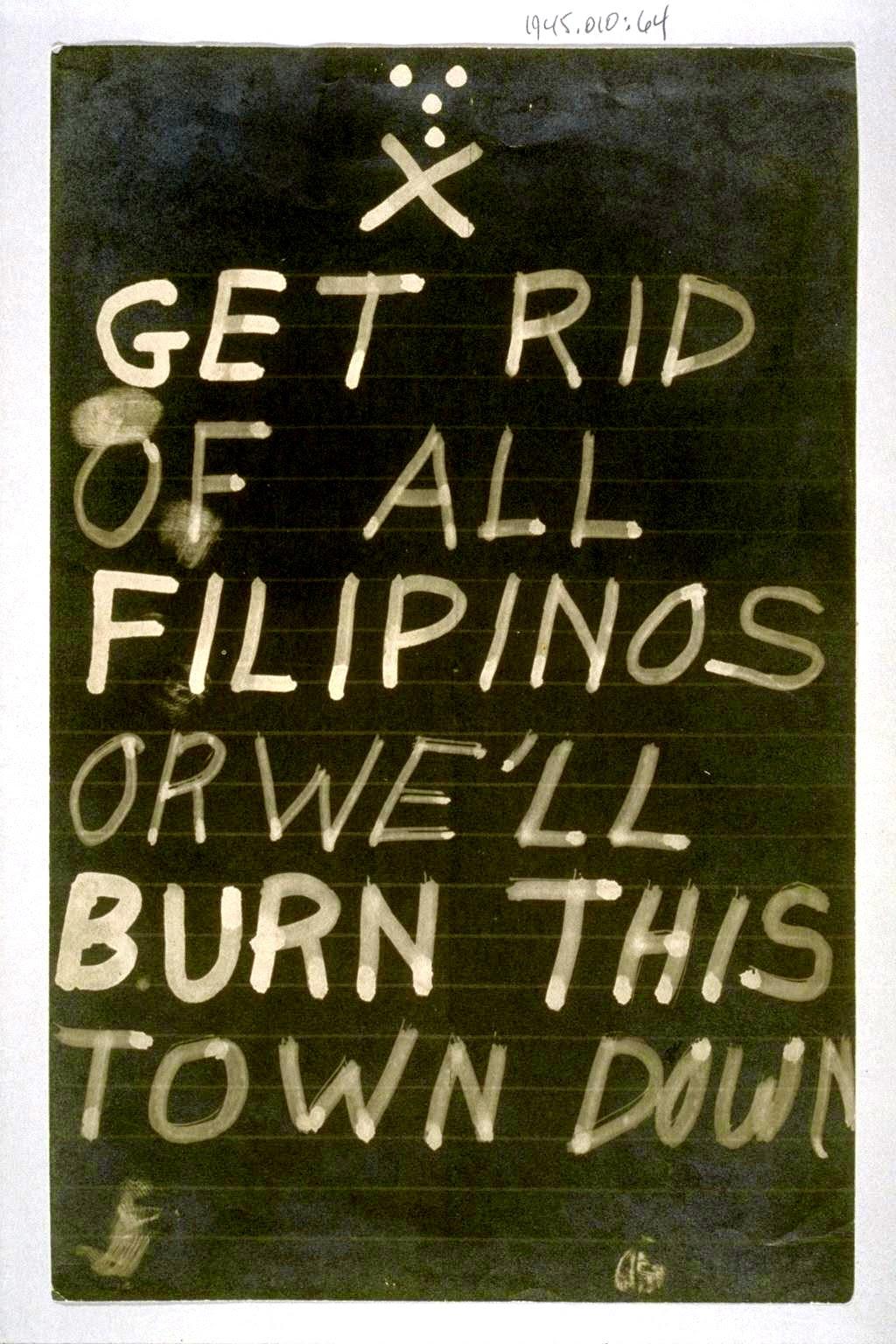 No Filipinos Allowed