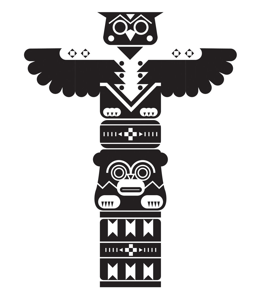Totem tattoo for Totem pole design template